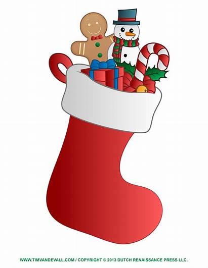 Stocking Template Clip Decorations Clipart Coloring