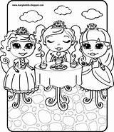 Tea Coloring Boston Princess sketch template