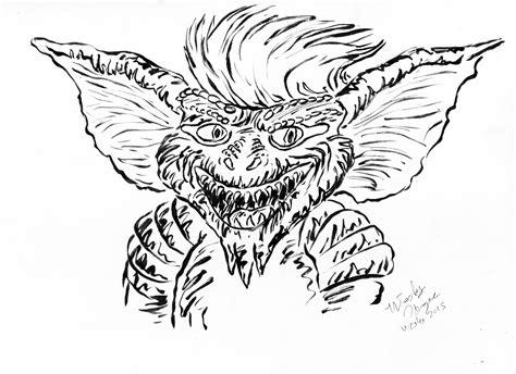 Gizmo Kleurplaat by Ink October Day 13 Stripe Weasyl