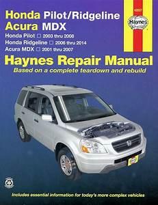 Honda Ridgeline  Pilot  Acura Mdx Repair Manual 2001