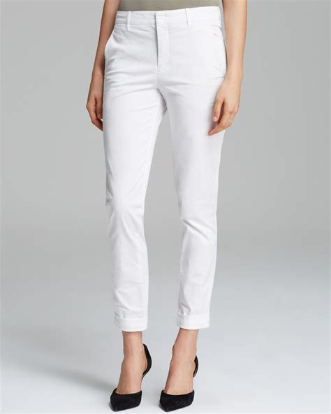 womens white chino pants  Pi Pants