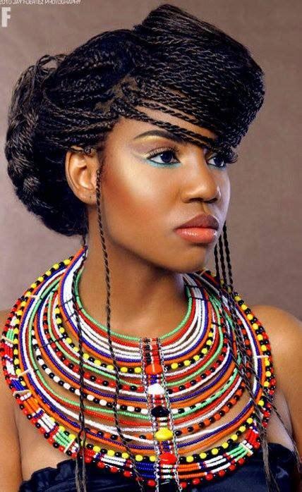 short african braids  big foreheads