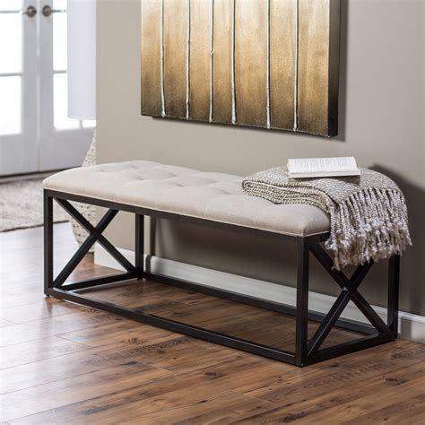 belham living grayson tufted entryway bench bedroom