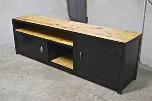 Meuble Design Industriel : tag archived of meuble industriel metal bois mobilier metal et bois meuble en pics4twitts ~ Teatrodelosmanantiales.com Idées de Décoration