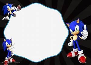 Create Printable Invitations Online Free Free Sonic The Hedgehog Invitation Templates Free