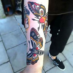Old School Moths Tattoo Idea