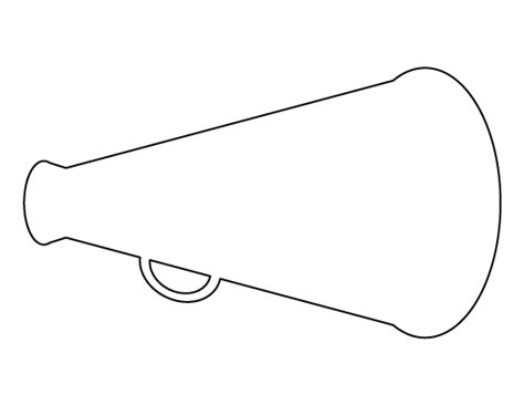 megaphone template megaphone free coloring pages