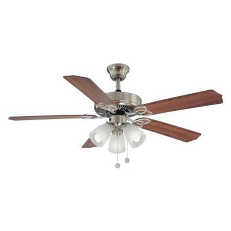 52 inch brookhurst ceiling fan brookhurst 52 in indoor brushed nickel ceiling fan yg268