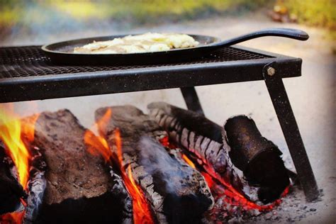 fire open cooking camping skillet essentials having right