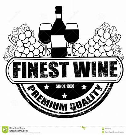 Wine Stamp Finest Illustration Vector Background