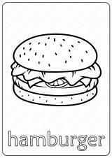 Hamburger Printable Coloringoo sketch template