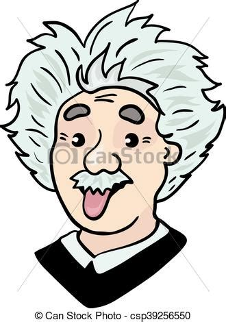albert einstein portrait  tongue  cartoon