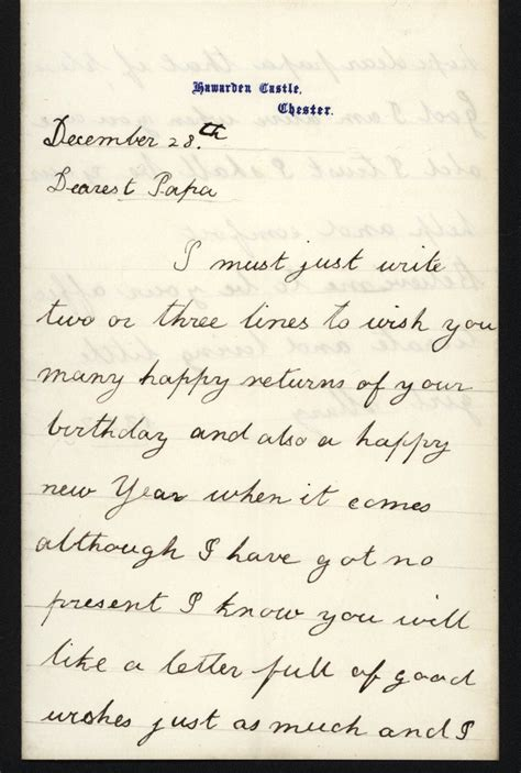 write  victorian birthday letter phyllis weliver