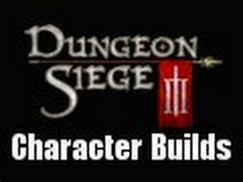 dungeon siege 3 best character dungeon siege 3 character class builds tank defensive
