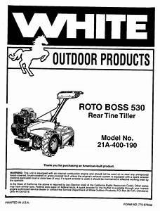 Roto Boss 21a-400-190 Manuals