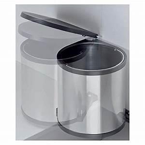 Mülleimer Für Küche : einbau abfallsammler k cheneimer 15 liter rund silber ~ Michelbontemps.com Haus und Dekorationen