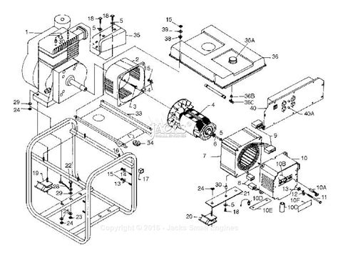 Generator Stator Wiring Diagram by Powermate Formerly Coleman Pm0524702 Parts Diagram For