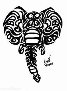 Elephant Tribal by RokenshiDragon on DeviantArt