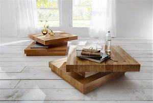 Designer Moderne Couchtische : couchtisch aus holz kernbuche mit quadratisch form ~ Frokenaadalensverden.com Haus und Dekorationen