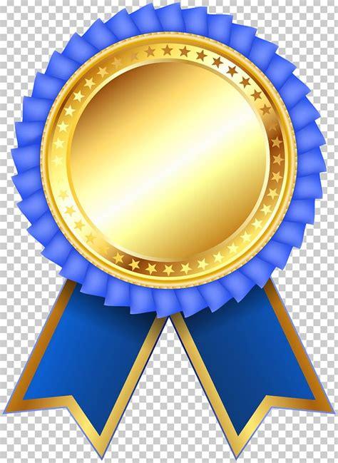 medal ribbon rosette png clipart award blue blue