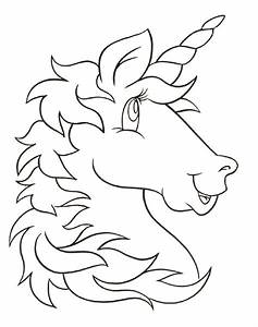 Unicorn Head Clipart Black And White - ClipartXtras