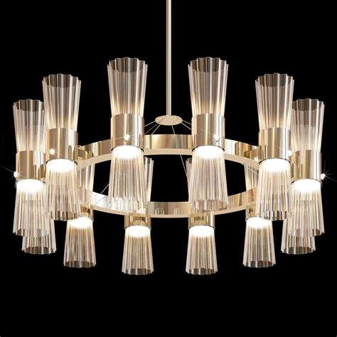 Glass Modern Chandelier by Modern Gold Leaf Murano Glass Chandelier