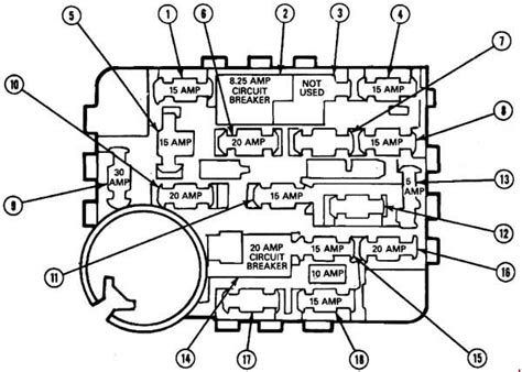 1992 Ford Mustang Fuse Diagram by Ford Mustang 1987 1993 Fuse Box Diagram Auto Genius
