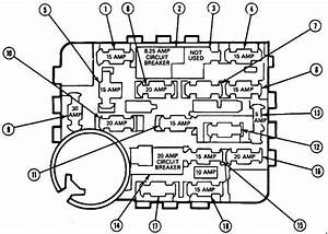 Ford Mustang  1987  U2013 1993   U2013 Fuse Box Diagram