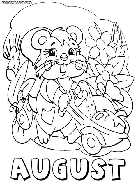 pin august coloring pages  pinterest