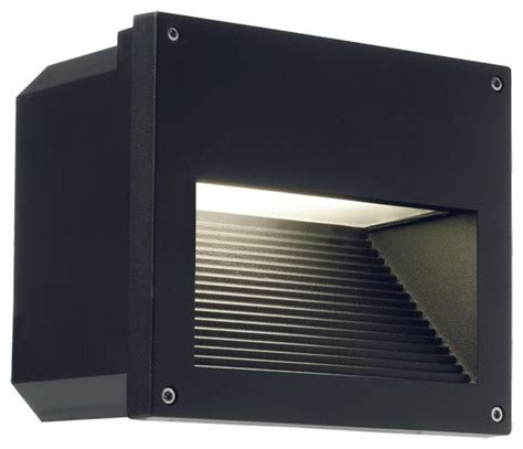 clara recessed wall light in black contemporary