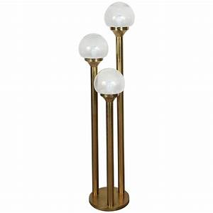 italian brass three globes floor lamp for sale at 1stdibs With tuscan floor lamp antique brass
