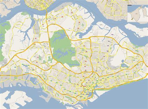 large detailed road map  singapore singapore large