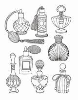 Perfume Coloring Pages Adult Bottle Mandala Bottles Tattoo Colouring Ink Books Sketching Bullet Da sketch template