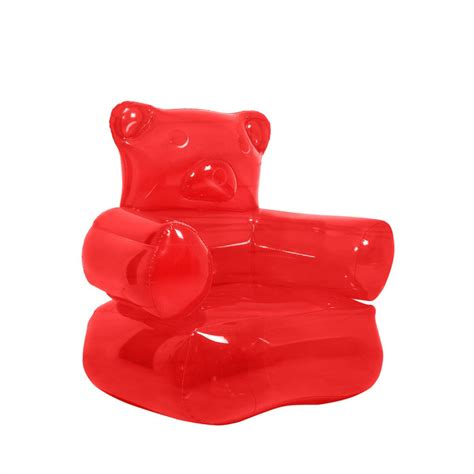 siege gonflable cocoon siège gonflable fauteuil à gonfler en forme d 39 ours gummy