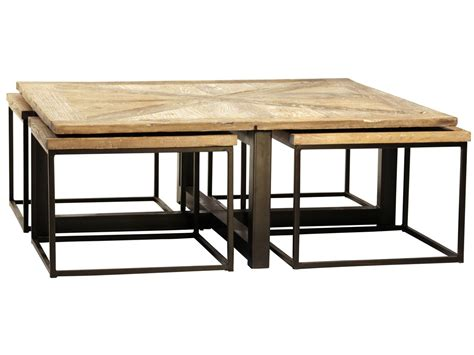 furniture drayton nesting coffee table  black iron