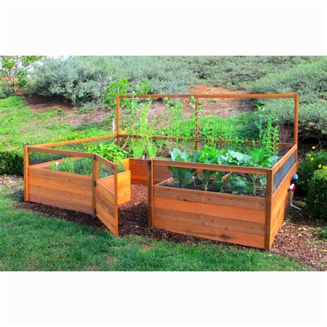 raised bed garden design casual cottage