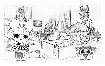 Lol Coloring Pages Dolls Surprise Doll Boyama