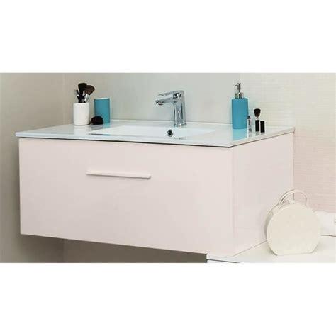 meuble salle de bain blanc 90 cm achat vente pas cher