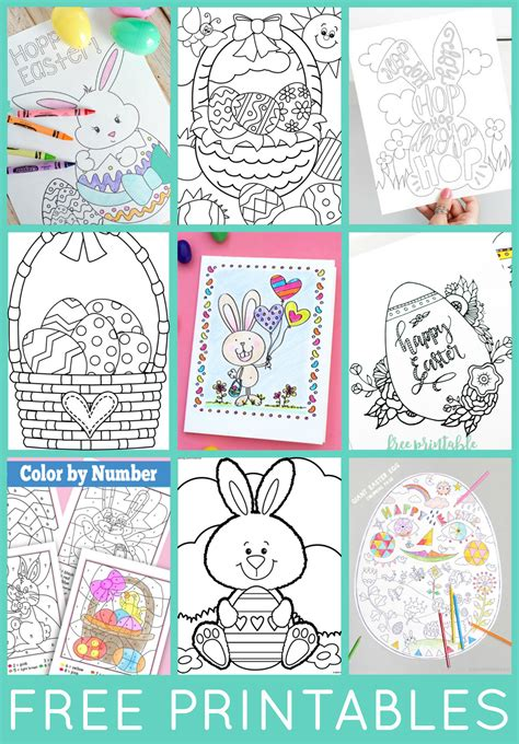 easter coloring pages free printable easter word search printable happiness is