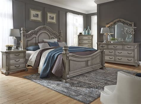 messina estates bedroom gray poster bedroom set