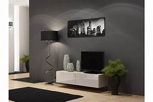 Meuble tv design suspendu vito 140cm chloe design for Deco cuisine pour meuble tv suspendu