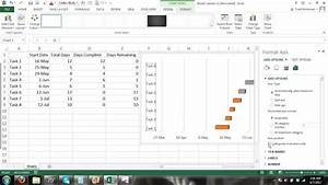 How To Make A Gantt Chart Microsoft Excel 2013 Tutorial  2
