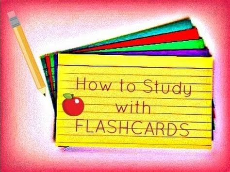 Studying With Flashcards )  How To Study For Exams & Tests  Lx3bellexoxo ♡ Youtube