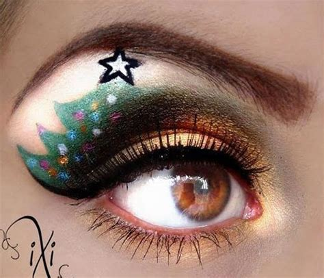 creative christmas party  fantasy eye   ideas   mas eyeshadows girlshue