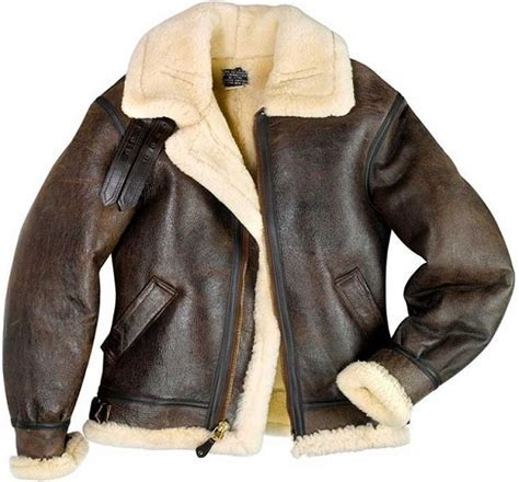B3 Sheepskin Bomber Jacket   Sheepskin Jacket Men's