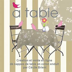 Nappe Toile Enduite : toile enduite fleurs a table ~ Teatrodelosmanantiales.com Idées de Décoration