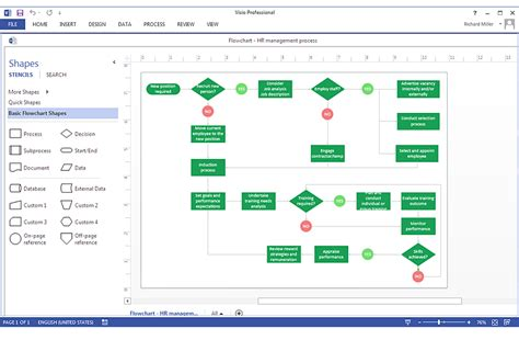create  ms visio workflow diagram