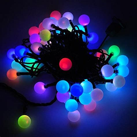 color changing led christmas lights dodolightness 50 rgb ball led color changing with 16 feet