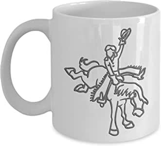 About 2% of these are mugs. Amazon.com: Cowboy Coffee Mug - Farm Themed Gifts - 11 oz Ceramic Cup: Kitchen & Dining