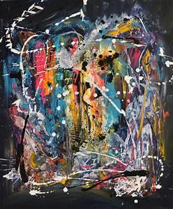 Tableau Contemporain Grand Format : achat tableau abstrait contemporain design flashy ame sauvage ~ Teatrodelosmanantiales.com Idées de Décoration